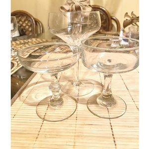 Set 3 Champagne Glasses